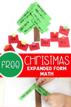 Free Christmas Expanded Form Math Activity