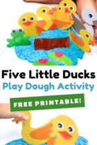 Five Little Ducks Play Dough Free Printable Activity