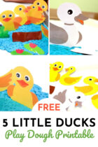 Free Five Little Ducks Play Dough Printable