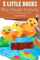 5 Little Ducks Play Dough Activity