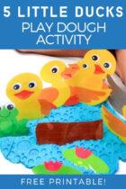 Five Little Ducks Play Dough Activity
