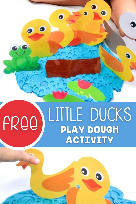 Free Little Ducks Play Dough Activity