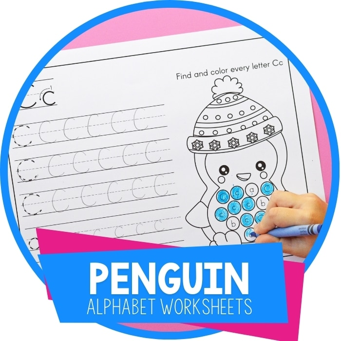 Penguin Theme Preschool Alphabet Worksheets Featured Image