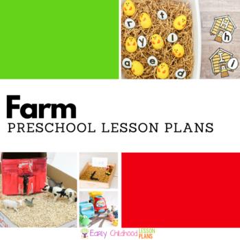 Farm preschool lesson plans square banner image