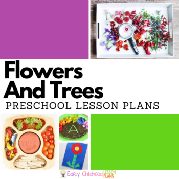 Flowers and Trees Preschool Lesson Plans square banner image