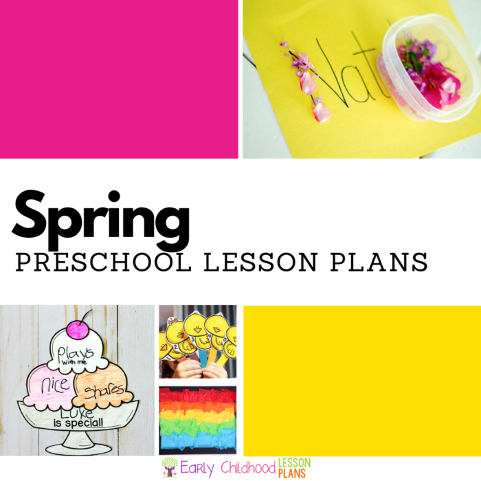 Spring preschool lesson plans square image
