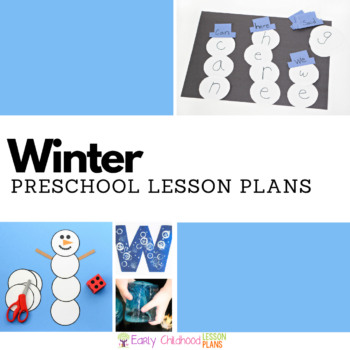Winter preschool lesson plans featured square image.