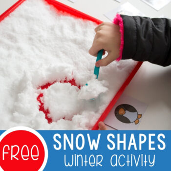 Snow Shapes Winter Activity featured square image.