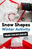 Snow Shapes Winter Activity