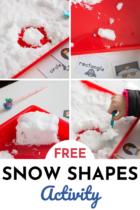Free Snow Shapes Activity