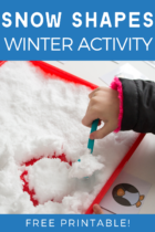 Free Printable Snow Shapes Winter Activity