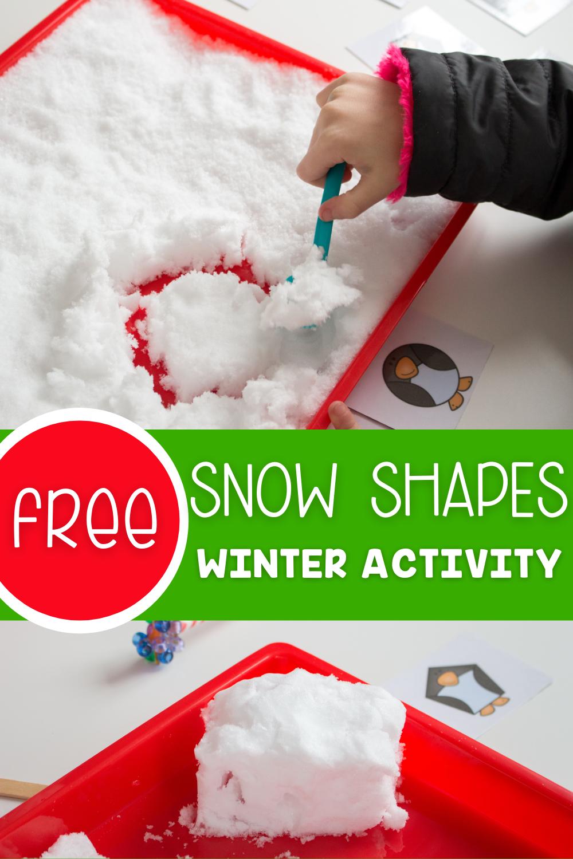 Free Snow Shapes Winter Activity