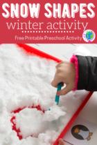 Snow Shapes Winter Preschool Activity