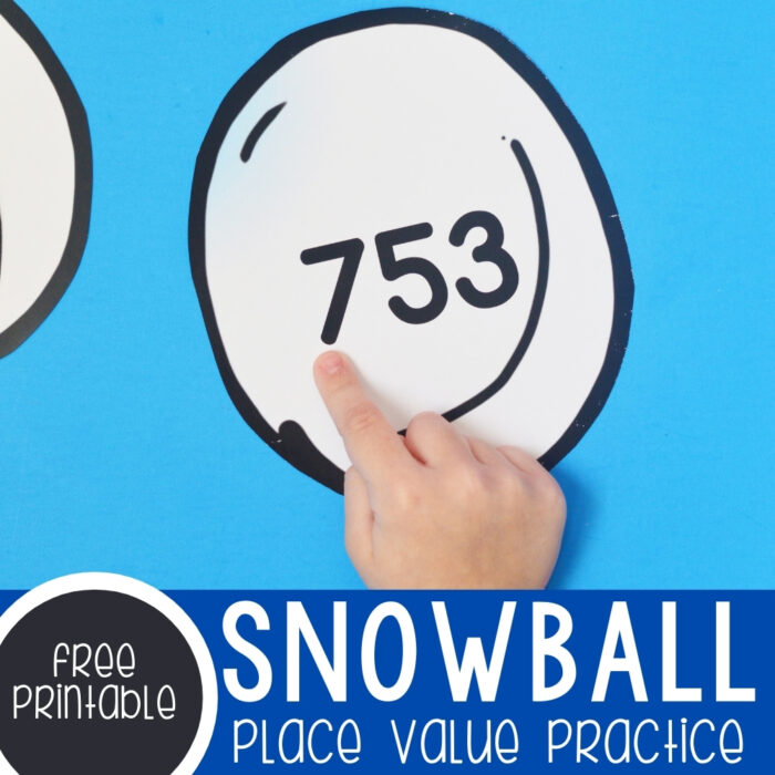 Snowball Gross Motor Place Value Practice Featured Square Image