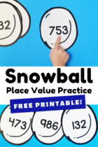 Free Printable Snowball Place Value Practice