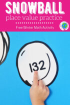 Snowball Place Value Practice Winter Math Activity