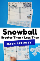 Snowball Greater Than / Less Than Math Activity