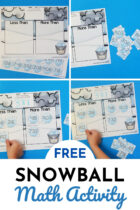 Free Snowball Math Activity