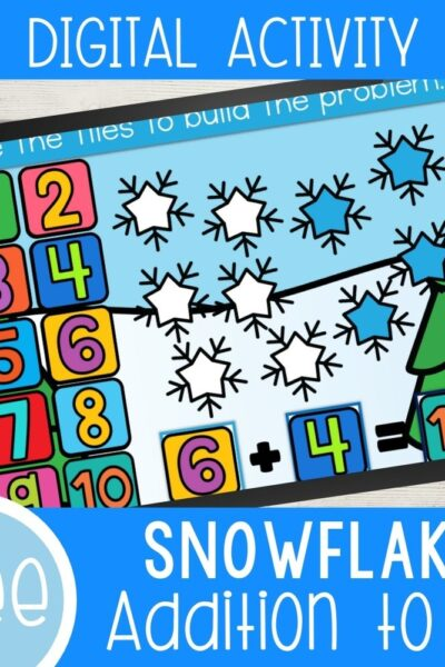 Snowflake addition digital activity.