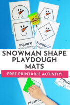 Free Printable Snowman Shape Playdough Mats Activity