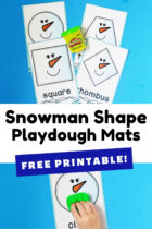 Free Printable Snowman Shape Playdough Mats