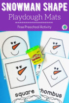 Free Snowman Shape Playdough Mats Preschool Activity