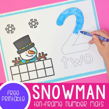 Snowman Ten-Frame Number Mats 1-10 featured square image.