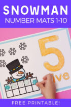 Free Printable Snowman Number Mats 1-10