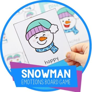 Snowman Theme Social Emotional Activities for Preschoolers Featured Image