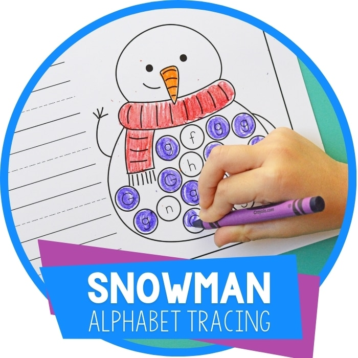 Snowman Themed Free Printable Alphabet Tracing Worksheets