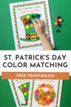 St Patrick's Day Color Matching Free Printables