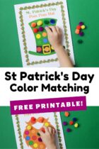 Free St Patrick's Day Color Matching Mats
