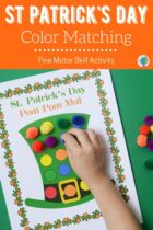 St Patrick's Day Color Matching Fine Motor Skill Activity