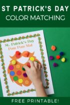 Free Printable St Patrick's Day Color Matching