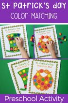 St Patrick's Day Color Matching Preschool Activity