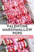 Valentine Marshmallow suckers.