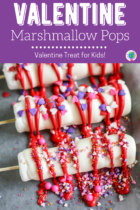 Valentine marshmallow treats for kids.