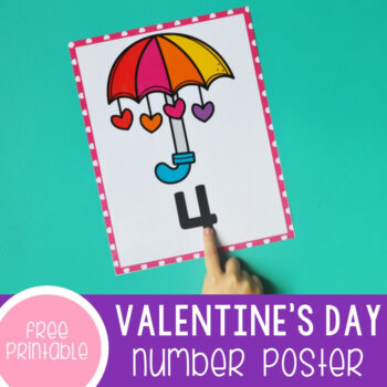 Valentine's Day Number Posters featured square image.