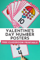 Valentine's Day Number Posters Free Classroom Printable