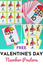 Free Valentine's Day Number Posters for Preschoolers