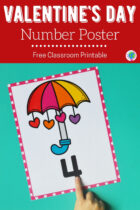 Free Classroom Printable Valentine's Day Number Posters