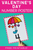 Free Printable Valentine's Day Number Posters