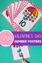 Free Valentine's Day Number Posters