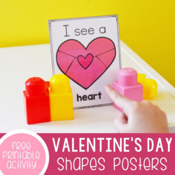 Valentine's I Spy Shape Posters Featured Square Image