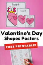 Free Printable Valentine's Day Shapes Posters for Preschoolers