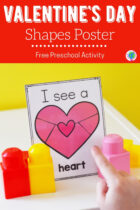 Valentine's Day Shapes Posters Free Preschool Activity