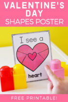 Valentine's Day Shapes Posters Free Printable