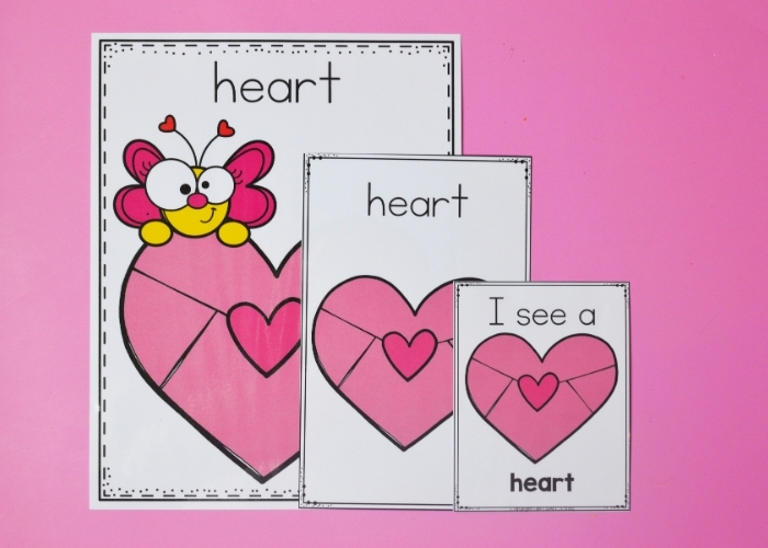 The free Printable Valentine's Day Shapes Posters for the