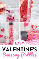 Easy Valentine's Sensory Bottles