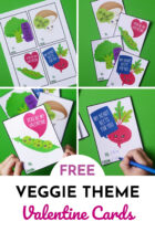 Free Veggie Theme Valentine Cards for Kids